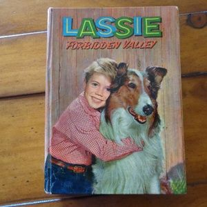 Book Hardcover 1959 LASSIE FORBIDDEN VALLEY Vintag